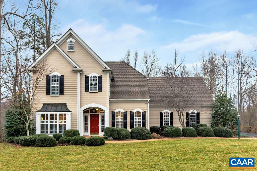 Located just minutes from UVA and Downtown Charlottesville, this stylish home in Mosby Mt. is loaded with upgrades including gleaming cherry floors, 5BR,  two master suites, gas cooktop,  plantation shutters,  large screened porch, custom built shed, home office, fenced yard and gas fireplace.  The open floor plan creates a bright sun filled living space which opens to an oversized rear patio.   Minutes to I-64, 5th St. Station shopping.  Yard is beautifully landscaped.
