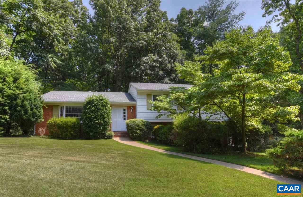 One owner, move in ready home on 2 lots on one of the best streets in C'ville. You can't beat the privacy & location on a wide, quiet street near the cul-de-sac within a short walk to Greenbrier Elementary and the Rivanna Trail & an easy drive anywhere in town. Offering 4 large bedrooms with gleaming hardwood floors, a bright and spacious living room, dining room connected to the private screened porch and a huge kitchen. You will find 2 full baths, a half bath and family room providing space for everyone, plus a huge basement for storage! Backyard is fenced and includes a second lot behind to ensure there will always be privacy.  BRAND NEW roof, updated HVAC, fresh paint & flooring. Ready for your finishing touches!