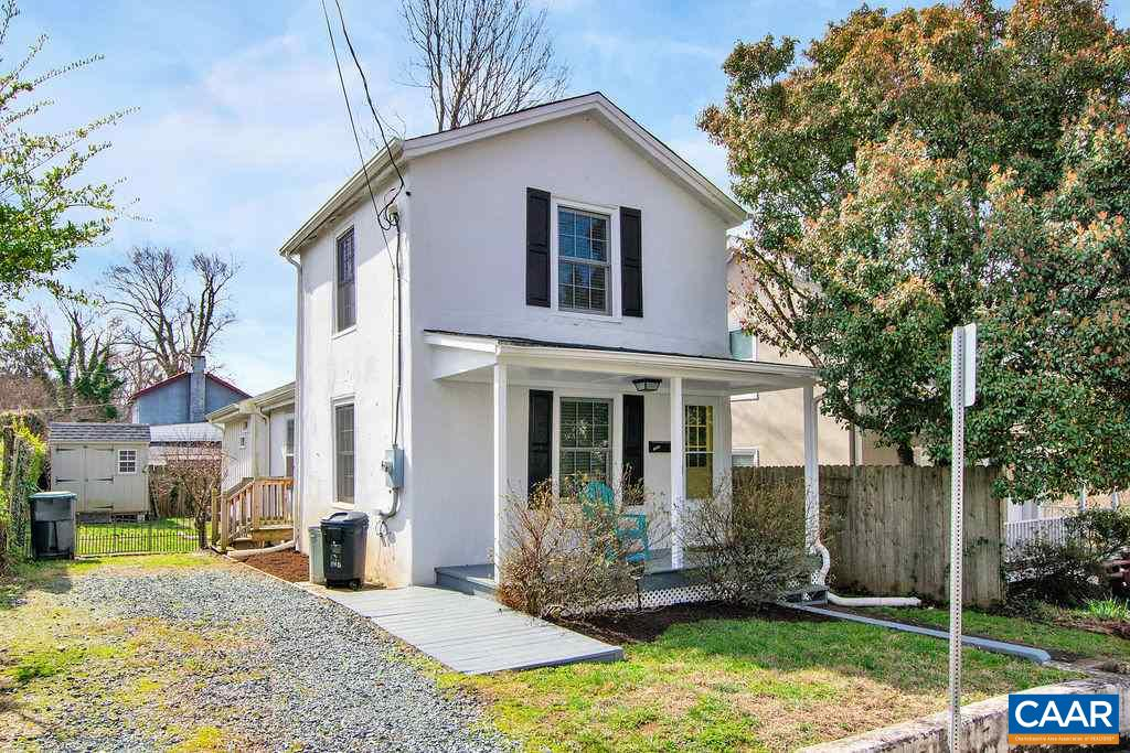 Location, location, location! Steps from UVA Medical Center and Charlottesville conveniences, this cottage home is perfect for anyone seeking proximity to UVA as well as low maintenance living. This historic home was totally renovated yet retains its charm and character. New Kitchen and baths; stackable laundry unit is neatly tucked under the stairs. The 2 story floor plan offers options and privacy to suit your needs - one bedroom/bathroom on each floor of the home. Only 2 quick blocks from Fifeville Park for dog walking. Private off-street parking and located near City bus stops. Detached shed provides extra storage space. Classic charm and character with recent renovations in close proximity to all things UVA is a winning combination!
