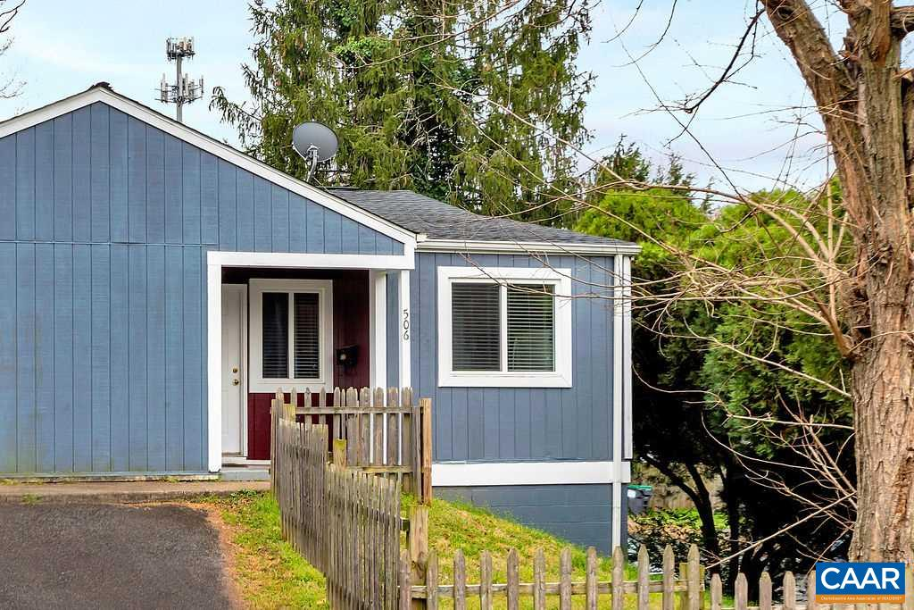 One level, low maintenance living 1 mile to the downtown mall and 8 min to UVA hospital. New roof, new windows, new appliances including washer and dyer, updated bathroom, and a fresh coat of paint make this home truly move in ready. Open concept layout with spacious living room that connects to the eat in kitchen featuring separate laundry room with pantry space. Both bedrooms are on the rear of the home overlooking the yard with the full bathroom conveniently located in the hall. Off street parking and surprisingly spacious yard. Perfect starter, downsize, or investment property. No HOA. Virtual tour and facetime showing available upon request for those that can't view in person.