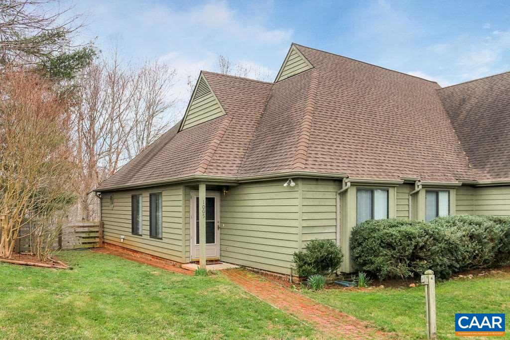 One level living in the wonderful Highlands of Crozet. Easy 15-20 minute drive to UVA, a fabulous screened porch overlooking nature, a great fenced yard for your dog out back then Blue Ridge views and sunsets out front make this place a great value. High quality stainless steel appliances including an Induction Electric Range, Bosch Dishwasher, Top of Line Refrigerator, Microwave that is also convection and a nice full sized front load w/d. 3 BR with a big master, 2 guest BR and a 2nd full bath, split bedroom design and an open concept floor plan. There is room for some TLC and it is priced accordingly.