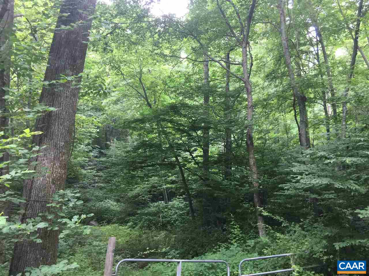 Blue Ridge Mountain Paradise: 74+ acres above Crozet w/ mature timber.  Select timber harvest about 10 years ago created interior roads. Several great home sites.  Build your dream home or cabin or use as a weekend hiking spot.  Land located just below Blue Ridge Parkway.  Over 2000 feet of frontage on Jarmans Gap Road.  Views overlook  Greenwood.
