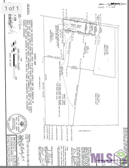 Lot 1 Tract D2A LA HWY 19, Slaughter, LA 70777