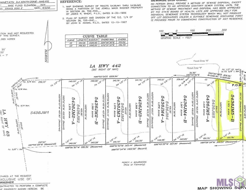 LOT 5436JM5-B LA HWY 442, Livingston, LA 70754