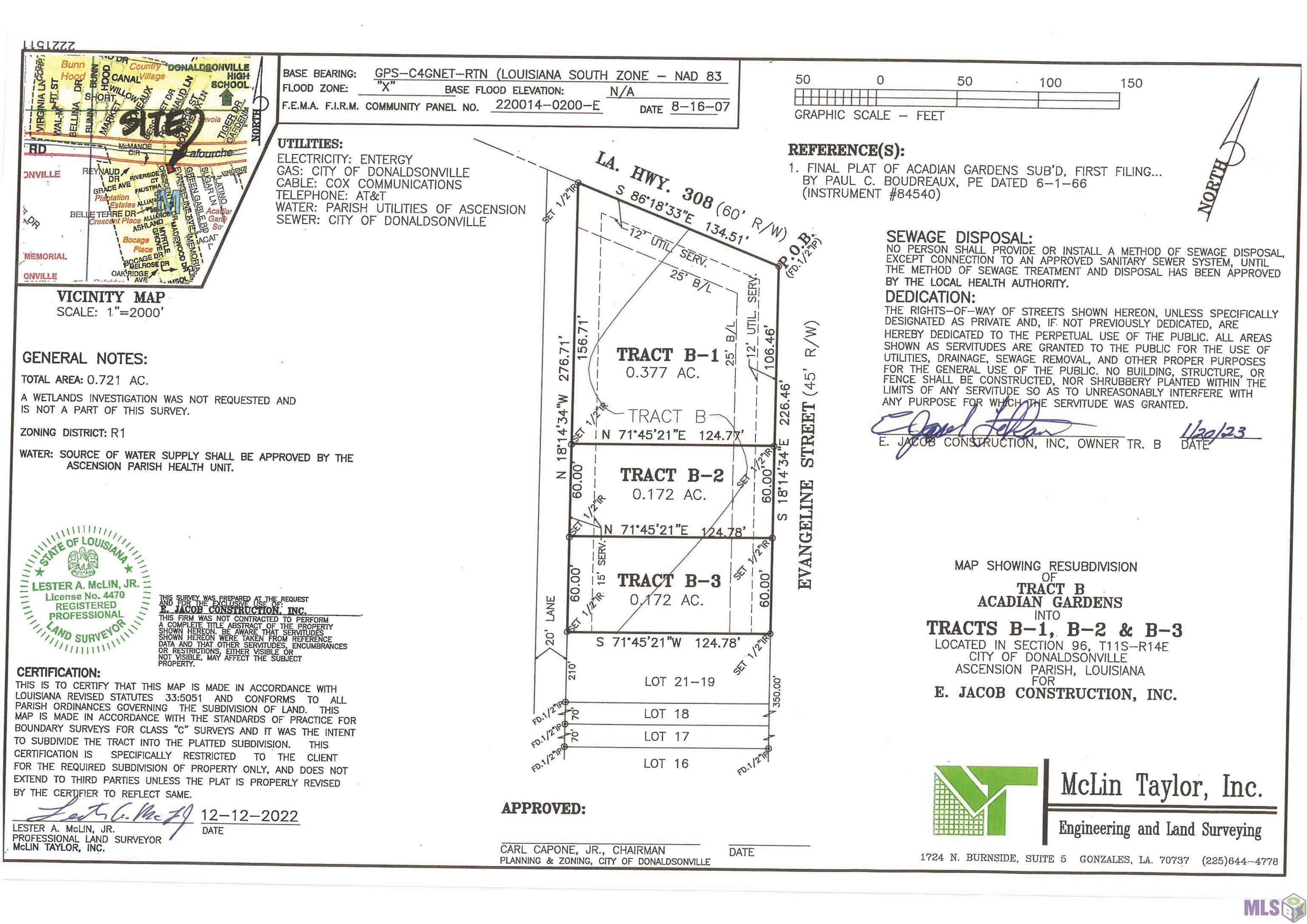Proposed lot B EVANGELINE DR, Donaldsonville, LA 70346
