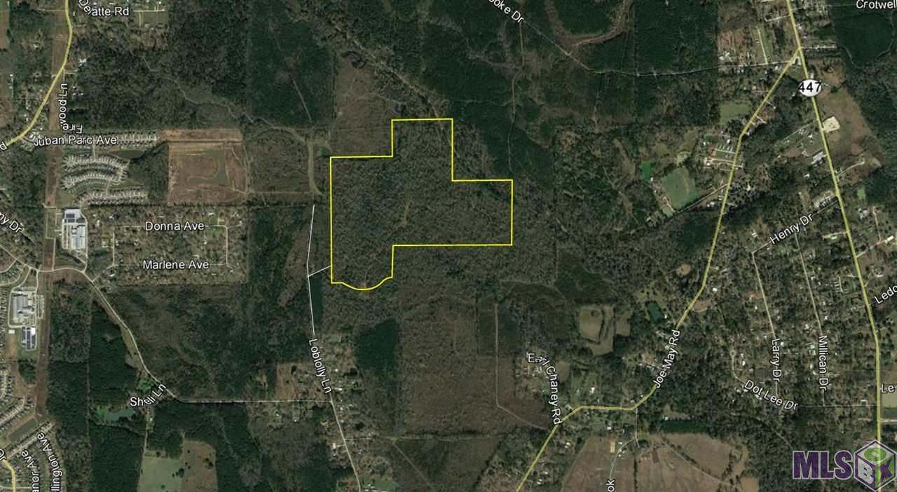 The property is located off of Loblolly Ln near Juban Rd & Walker South Rd in Denham Springs, LA. 207 Acre Timber tract in Denham Springs available for sale in Livingston Parish. Potential uses include Single family residential development, Timber Investment (call listing broker for details).  The property is in close proximity to Juban Crossing, Juban Parc Elementary & Middle, and Greystone Country Club. Rural Zoning, access through servitude extending from Loblolly Ln.