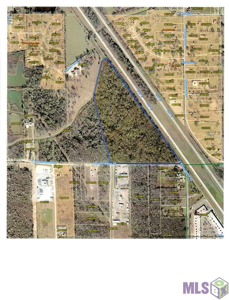 30 Acre Tract with 1,300' Frontage on N Robert Wilson and over 2,000' Frontage on I-10.. Additional 30+ Acres Available.. Call office for info & Plat.. Property located at LAMAR Sign Reserved by Seller. Dimensions Reserved to be determined by Seller..