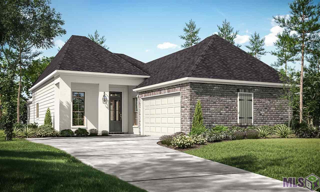 """This single-family residential community off of HWY 42 features 130 homes in a country setting, boasting architectural brick finishes, sidewalks, curb and gutter, and neighborhood green spaces in a central lake community setting. Homes will feature 15 models with many upgrades available. Homes range in size from 1,761 to 2,051 square feet living area, featuring oversized ceramic tiles, hardwood flooring, Whirlpool appliances, crown molding, custom cabinetry, granite slab in kitchen and bath counters and Whirlpool tub in Master bath. All homes include a WiFi enabled SmartHome management hub with wireless security system and exterior security camera. Six months of alarm monitoring is included. All homes include a wireless smoke/heat combination detector as well as a WiFi enabled thermostat with moisture controls and advanced filtration systems. Visit the """"Build Smart"""" area of our website to find additional information.  Estimated date: 09/21/2020 The Spoonbill plan is a 4bed/2bath single story home featuring open and spacious living areas with 12' high ceilings in living and dining room. Adjacent kitchen includes a large breakfast/keeping area overlooking the backyard. Separate and private master bedroom has attached en suite bath and wall of windows to backyard. Master bath has dual sinks, WC, walk-in shower, jetted tub and oversized walk-in closet. Full utility room and secure entrance from enclosed garage. Price of the home includes 12x12 patio, kitchen cabinets to ceiling, wood framed mirrors, and kitchen trash can pullout. Homes in Ironwood Estates qualify for 100% financing through USDA Rural Development. Association dues are $400 annually with an initial capital contribution of $300. Seller/Owner/Broker does not warrant school system; buyer to verify. Owner/Broker is Louisiana licensed real estate agent. Alvarez Construction Co. will pay $5,000 in closing costs and prepaids. (Restrictions Apply)."""