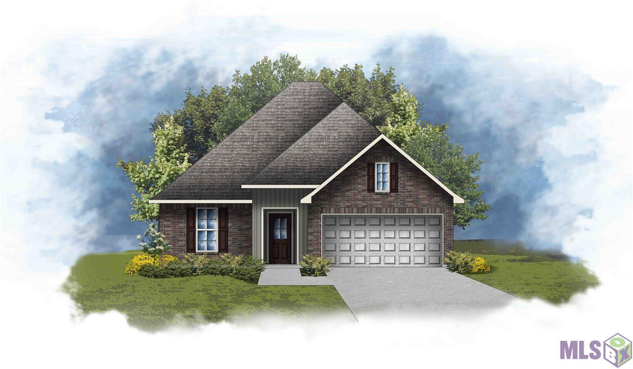 The RAEFORD III G in Cambre Oaks community offers a 3 bedroom, 2 full bathroom, open and split design.  This home site backs up to a pond.  Upgrades include luxury vinyl plank flooring in all bedrooms and the master closet, blinds, quartz countertops, cabinet hardware, upgraded cabinets, additional LED ceiling fans, and more!  Special Features:  double vanity and walk-in closet in the master suite, kitchen island, walk-in pantry, covered rear patio, recessed can lighting, undermount kitchen sink, luxury vinyl plank flooring in the living room, halls, and all wet areas, ceiling fans in the living room and master bedroom, Honeywell Smart Connect WiFi thermostat, Tuscan bronze plumbing fixtures, smoke and carbon monoxide detectors, post tension slab, automatic garage door with 2 remotes, seasonal landscaping package, architectural 30-year shingles, and more!  Energy Efficient Features:  tankless gas water heater, Frigidaire appliances, low E tilt-in windows, radiant barrier roof decking, and more!