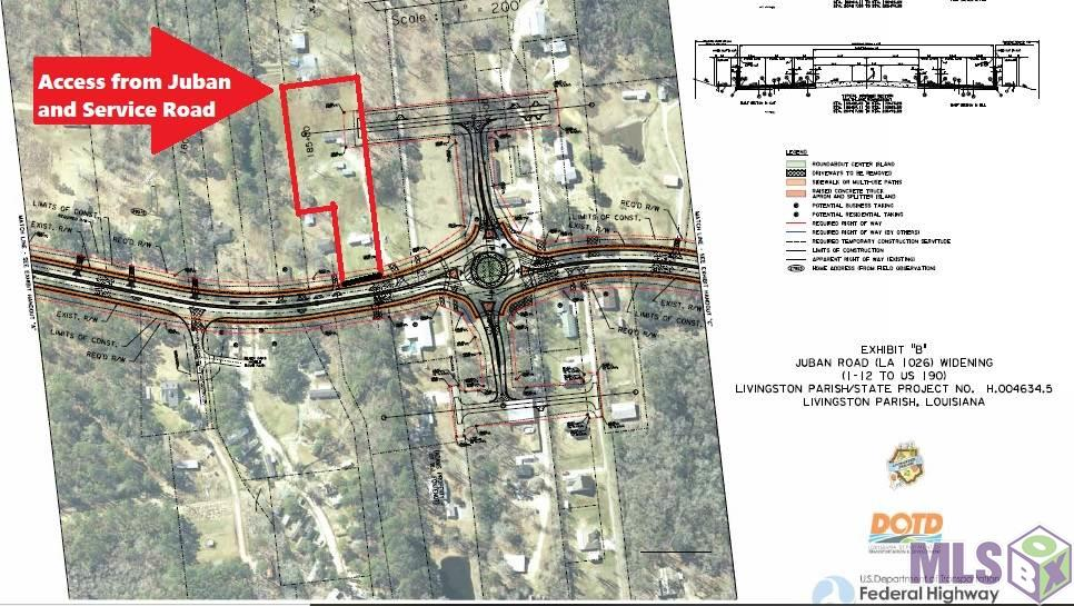 Commercial Opportunity with 1.92 acres offering Access to Juban Rd (North) and Access to the new Service Rd coming with the roundabout. Please contact agent for additional details.