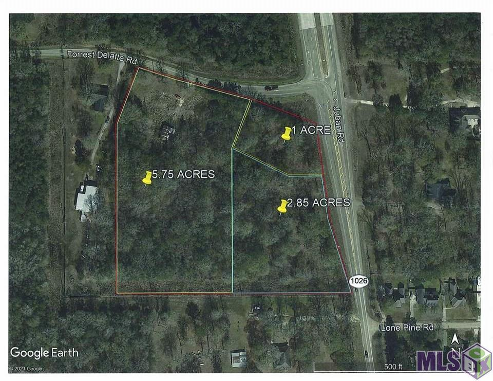 Great location just South of I-12, corner parcel with dual frontage on Juban Rd & Forrest Delatte Rd. Tremendous opportunity for commercial development. Property is 100% flood zone X, and has a previous wetland JD indicating that the land is free and clear of wetlands. Subdivision into smaller parcel(s) possible.