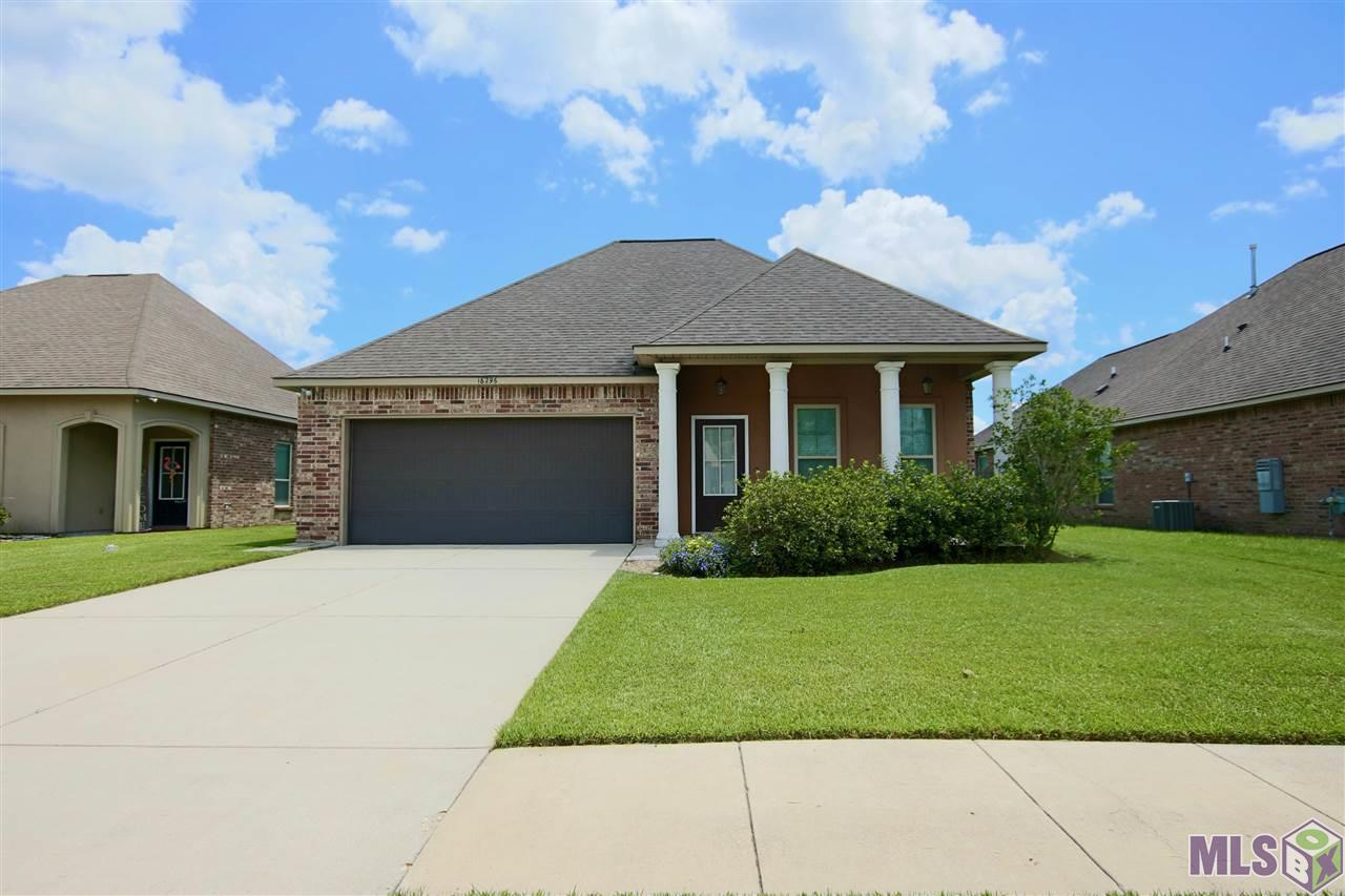 Where are my fisherman and duck lovers?  This beauty is 7 years old with 4 bedrooms and 2 full bath.  Featuring an open floor plan and spacious laundry room. The entire home has been freshly painted.  The back yard has a nice aluminum fence, perfect for watching the sunrise over the pond.  The kitchen has stainless appliances and 3cm granite and a HUGE island bar.   The master suite has a separate shower and jacuzzi tub.  And a large walk-in closet and separate water closet.  Large back yard patio area.  The neighborhood Keystone of Galvez subdivision's amenities include park/playground with gazebo (coming soon) within walking distance, beautiful cobblestone bridge, traffic circles and subdivision entrance, curb and gutter streets, Flood insurance is not required.  Keystone has several lakes with access to fishing. Keystone of Galvez also has an established group Facebook, Annual Halloween Hay Rides and Easter Egg Hunts. Keystone of Galvez is centrally located with access to Interstate I-10, Interstate I-12, and Airline Highway.