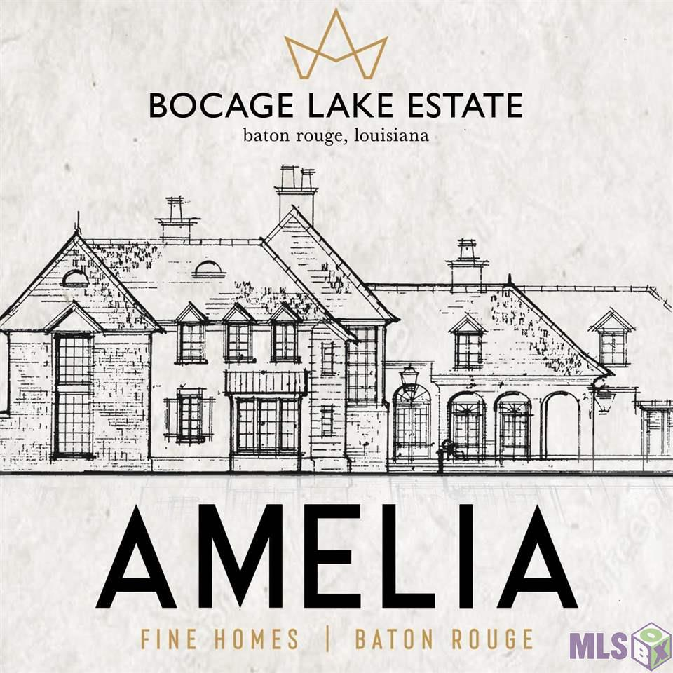 Grand lifestyle of luxury living in an unparalleled location. New construction build by Amelia Fine Homes and designed by Mike Sullivan on the last lakefront property in gated Bocage Lake Subdivision. Prominent features include master suite with separate his and hers baths and two story master closet, chefs kitchen adorned with high end appliances and back kitchen for party prep and ample storage, service bar and butlers pantry off dining and foyer, two wood burning fireplaces, large library/office, three car garage and auto court for plenty of off street guest parking, covered and screened outdoor kitchen and living room with views of sparkling lakeside infinity edge pool. What more could you ask for? Call now for a private appointment with build team for more details.
