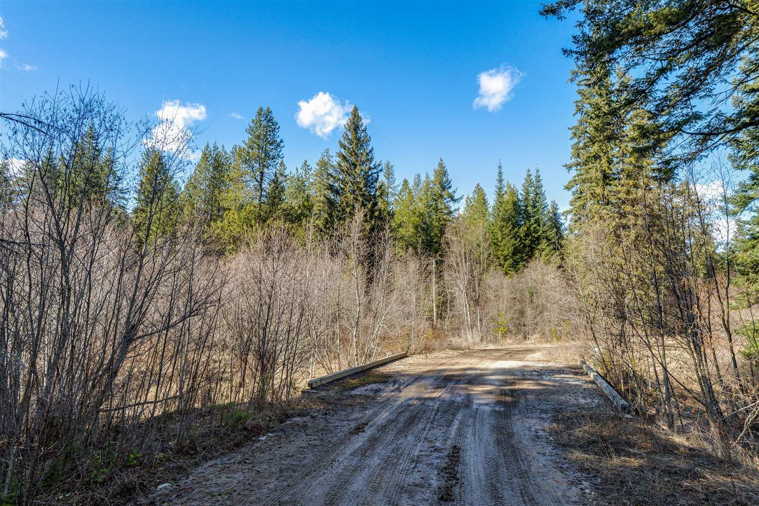 20 acres of Beautiful treed secluded land with over 600 feet on Deek Creek at   the base of MT Spokane, the perfect location for your dream home. Deer and   wildlife abound, Only 25 minutes from North Costco.